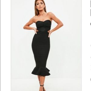 Midi side cut out dress